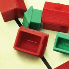 image of little plastic houses