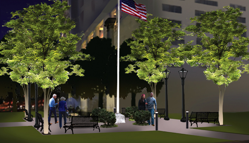 Rendering of Jack Guynn Plaza