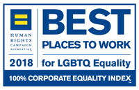 Human Rights Campaign Foundation 2018 100% Corporate Equality Index badge