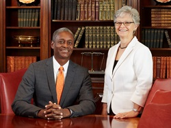 Photo with Atlanta Fed President and CEO Raphael Bostic and Marie Gooding, First Vice President and Chief Operating Officer