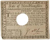 New Hampshire paper money bill of credit