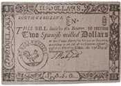 South Caroloina paper money bill of credit