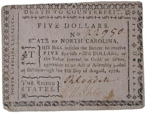 North Carolina bill of credit