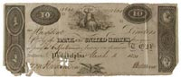 note from the Second Bank of the United States