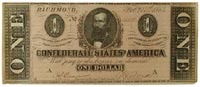 $1 Confederate note, 1864