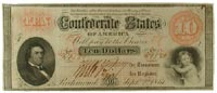 $10 Confederate note, 1861