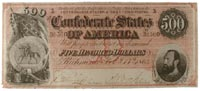 $500 Confederate note, 1864