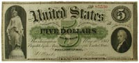 "$5 ""greenback"" demand note, 1861"
