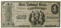 $1 First National Bank of Chelsea, Vermont, not