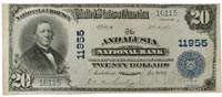 $20 note of Andalusia National Bank, Andalusia, Alabam