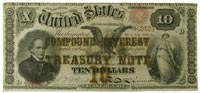 compound-interest-bearing $10 Treasury note from 1864