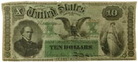 interest-bearing $10 Treasury note from 1864