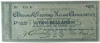 $2 scrip from Altoona (Pennsylvania) Clearing House