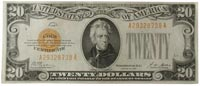 $20 1928 US gold certificate