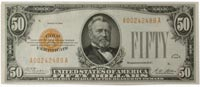 $50 1928 US gold certificate