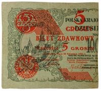 five groszy, Poland, 1924