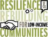 Resilience & Rebuilding for Low-Income Communities conference logo