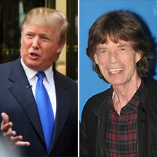 Mick Jagger and Donald Trump