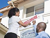 photo of foreclosure sign
