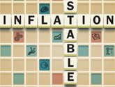 Graphic of stable inflation scrabble
