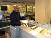 photo of Atlanta Fed check processing staff member