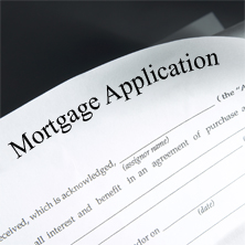 image of a loan application