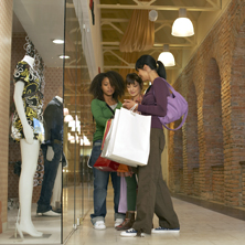 Photo of young people shopping
