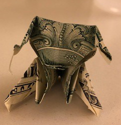 dollar art origami puppy