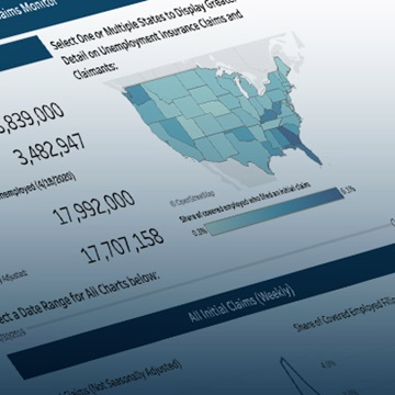 Center for Workforce and Economic Opportunity Tool: Unemployment Claims Monitor