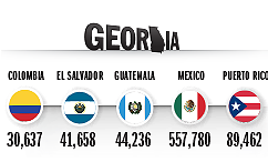 Top Countries of Origin for Hispanic Population in 2014, Georgia