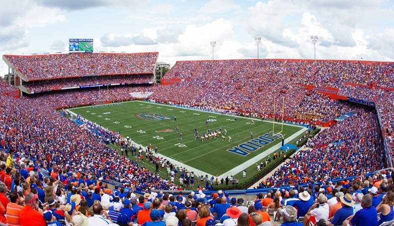 Nearly a million people attend University of Florida sporting events annually, spending about $70 million. Visitors to educational and cultural events, including hospital visits, spend $185 million, according to university figures.