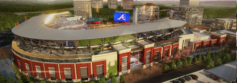 panoramic photograph of Atlanta's SunTrust Park stadium