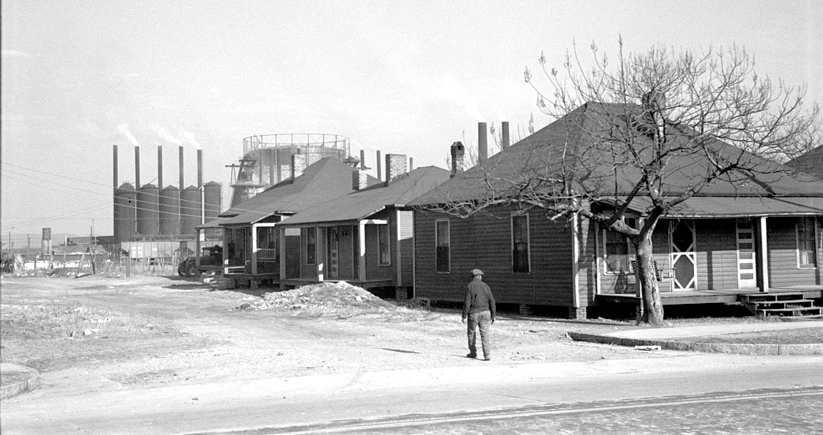 Company housing outside of a Birmingham steel mill, 1937. Photo courtesy of the Library of Congress Photographic Archives