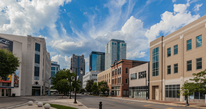 Local news reports said more buildings were torn down than built in Birmingham in the 1950s. Downtown today is experiencing a resurgence powered in part by the restoration of historic buildings. Photo by Kendrick Disch
