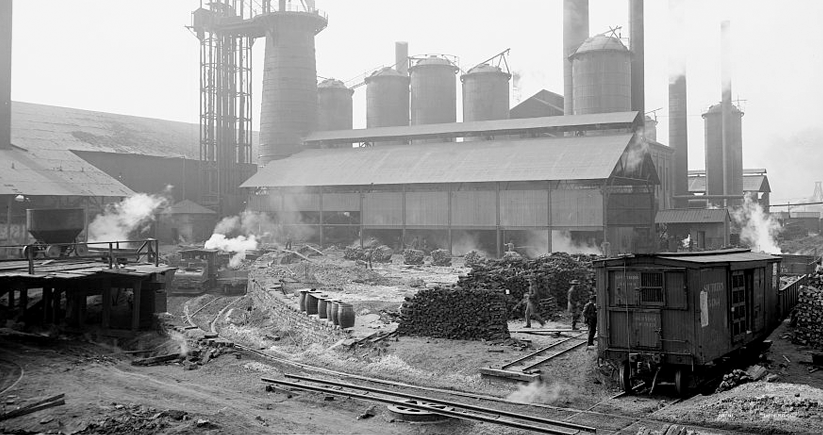 A 1906 photo of Sloss City Furnaces in Birmingham. Photo courtesy of the Library of Congress Photographic Archives