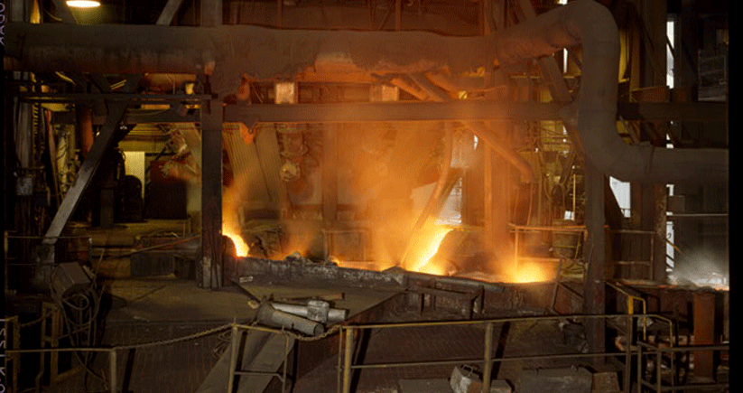 A U.S. Steel furnace in Birmingham, 1968. Photo courtesy of the Library of Congress Photographic Archives