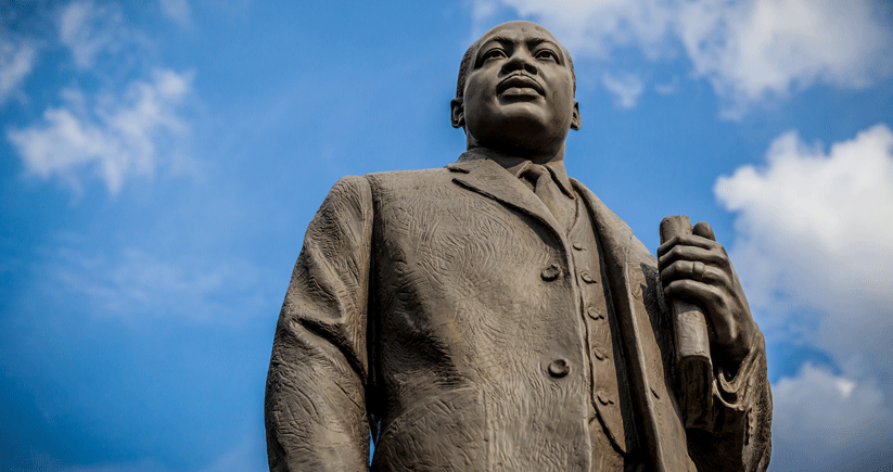 Birmingham's Civil Rights Institute and the new Birmingham Civil Rights National Monument commemorate the bloody struggles in the city led mainly by the Rev. Martin Luther King Jr. (statue pictured) and the Rev. Fred Shuttlesworth. Photo by Kendrick Disch