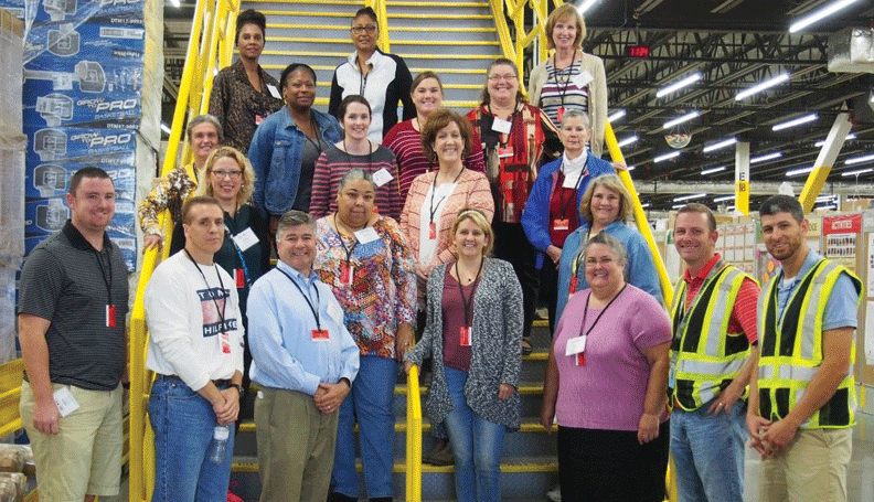 Tennessee teachers toured the Amazon distribution center in Lebanon as part of a professional development workshop sponsored by the Atlanta Fed's Nashville Branch in partnership with Middle Tennessee State University's Center for Economic Education.