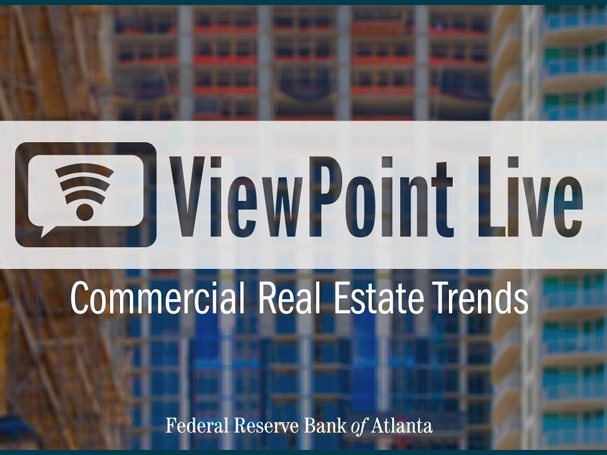 opening slide from ViewPoint Live webinar on commercial real estate trends