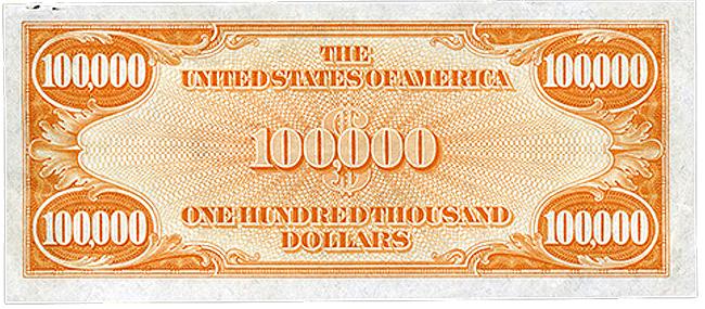 $100,000 Gold Certificate - Federal Reserve Bank of Atlanta