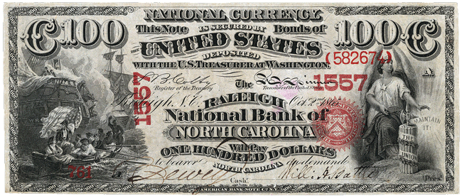 National Bank Note Series $100 Bill