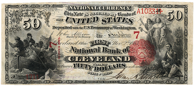 National Bank Note Series $50 Bill