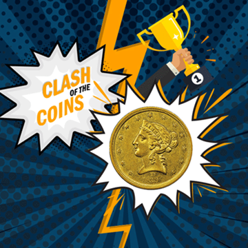 Clash of the Coins winner: Dahlonega Mint Half Eagle Gold Coin