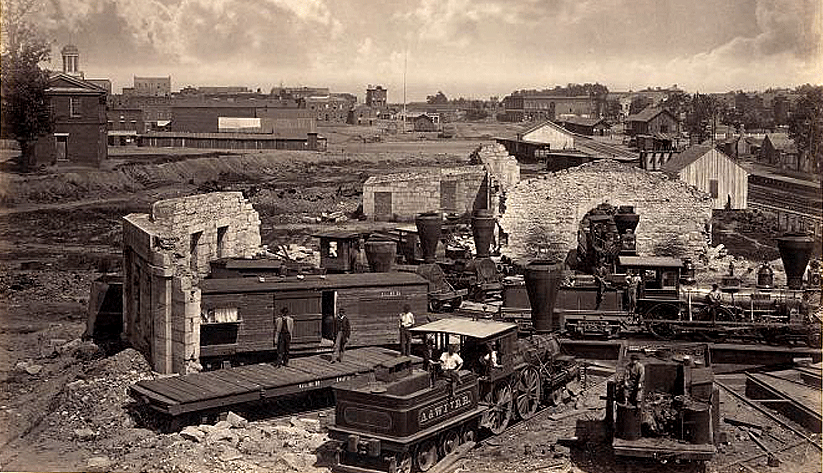 Atlanta in 1866. Photo courtesy the Library of Congress Photographic Archives