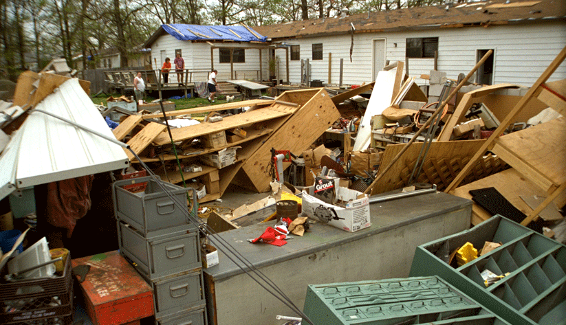 Another view of the destruction in Dade County, Florida, wrought by Hurricane Andrew on August 24, 1992. Photo by Bob Epstein and courtesy of the Federal Emergency Management Agency