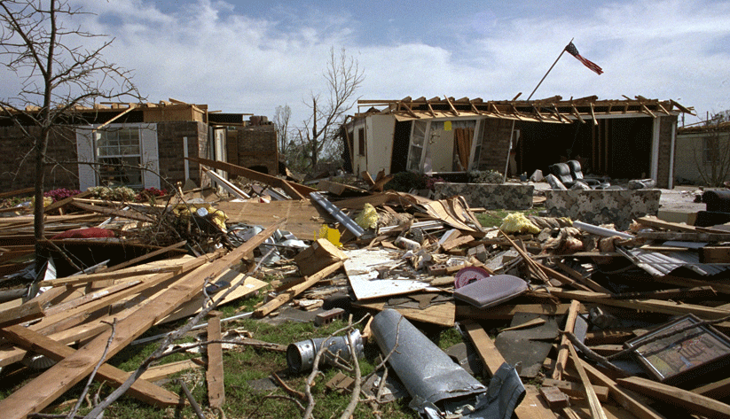Thousands of people in South Florida suffered catastrophic loss as a result of Hurricane Andrew, as this August 24, 1992, photo shows. Photo by Bob Epstein and courtesy of the Federal Emergency Management Agency
