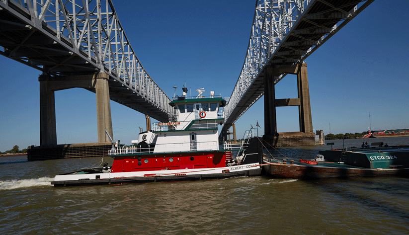 Via the Mississippi River, the Port of New Orleans connects to 14,500 miles of inland waterways. Photo by David Fine