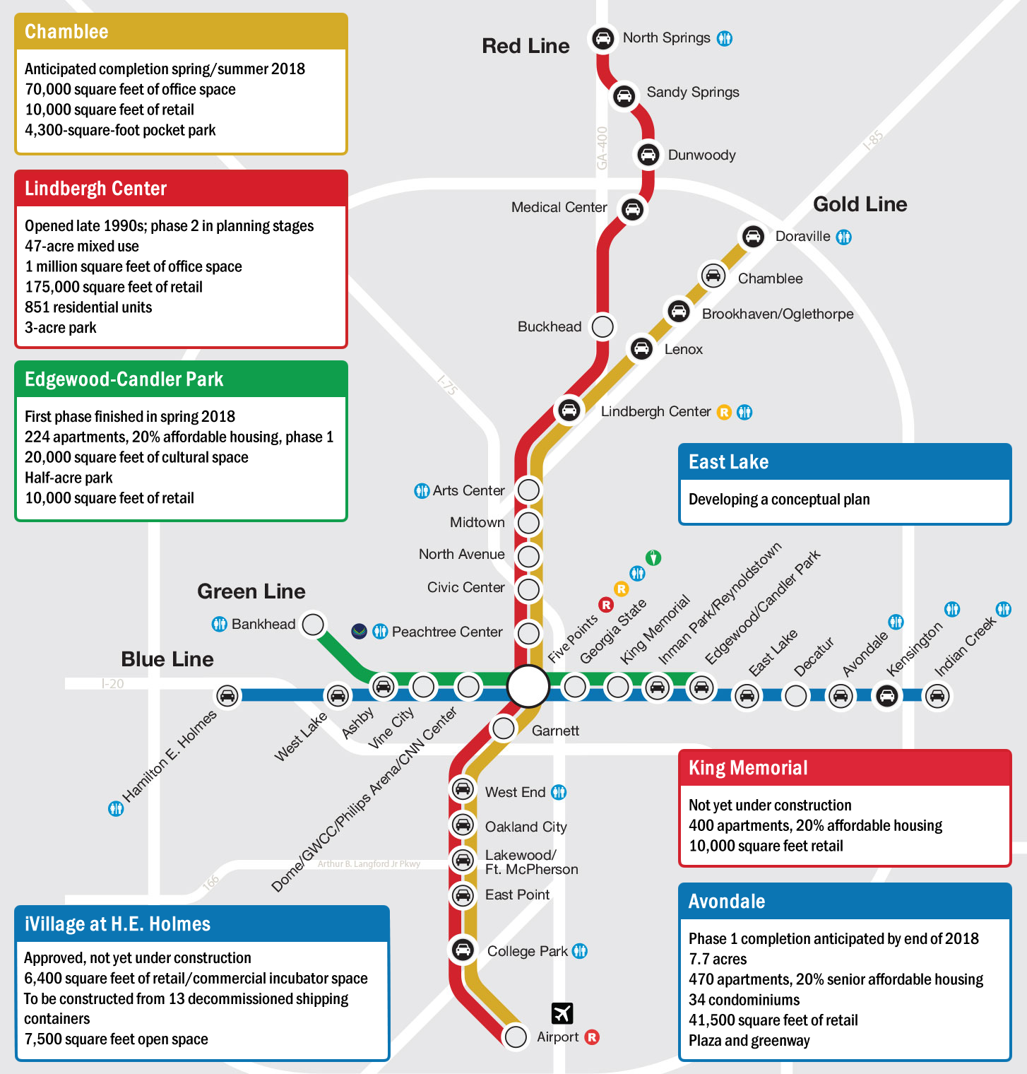 map of the MARTA transit system