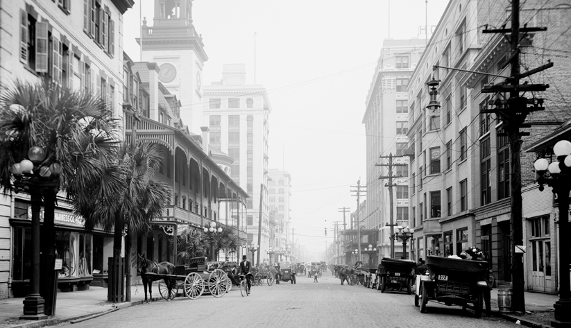 Jacksonville's downtown business center in 1926. Photo courtesy of the Library of Congress photographic archives