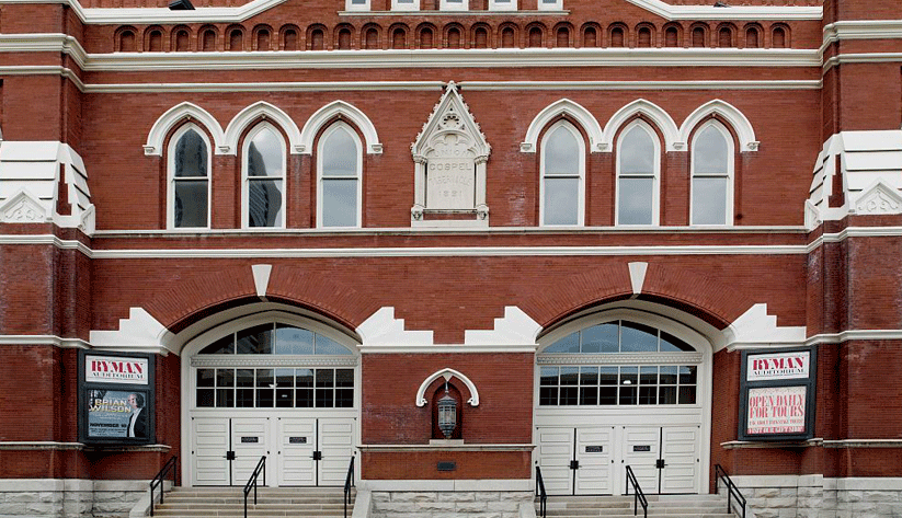 "Often referred to as ""the Mother Church of Country Music,"" Ryman Auditorium is the former home of Nashville's fabled Grand Ole Opry. Photo by Carol Highsmith and courtesy of the Library of Congress photographic archives"